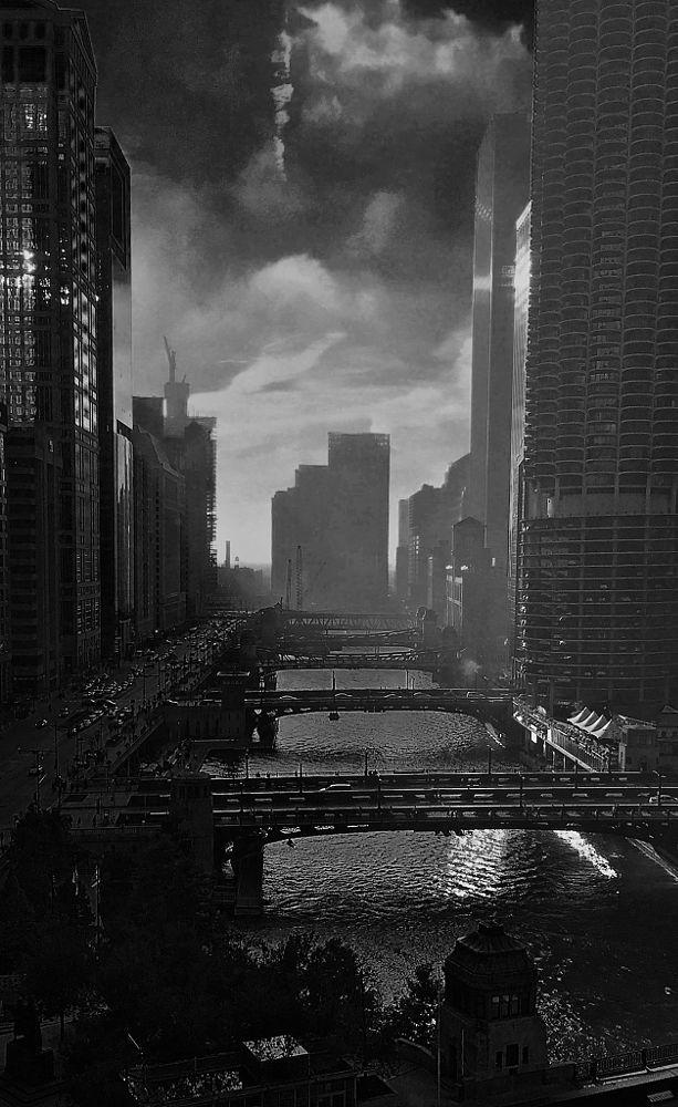 Photo in Cityscape #chicago #chicago city bridges