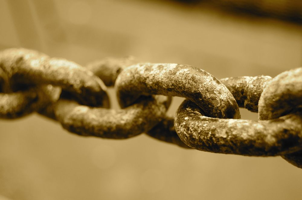 Photo in Abstract #chain #rust #salt