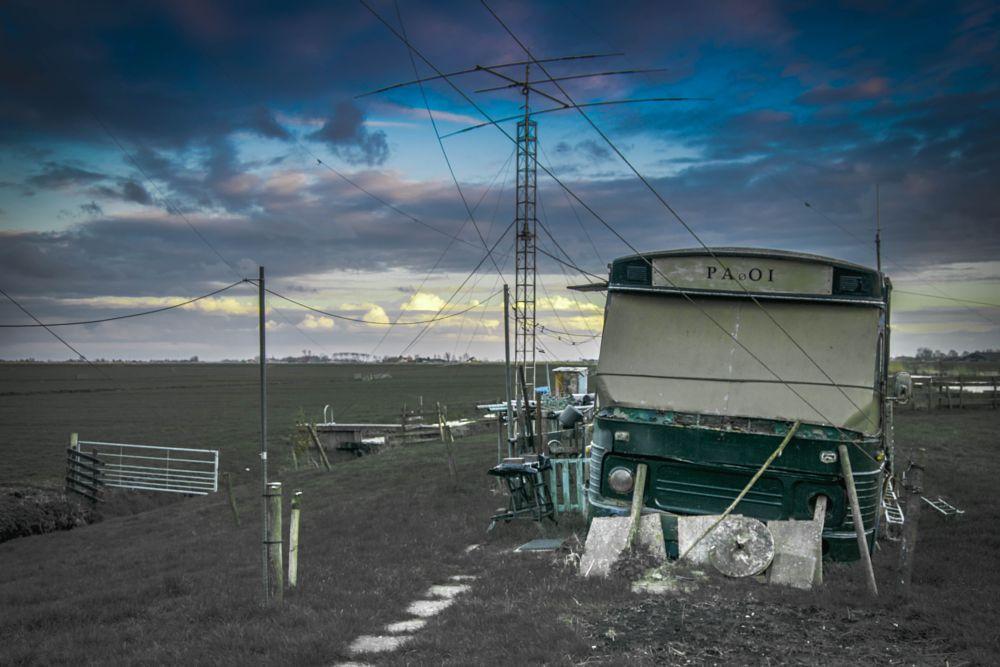 Photo in Landscape #landscape #holland #bus