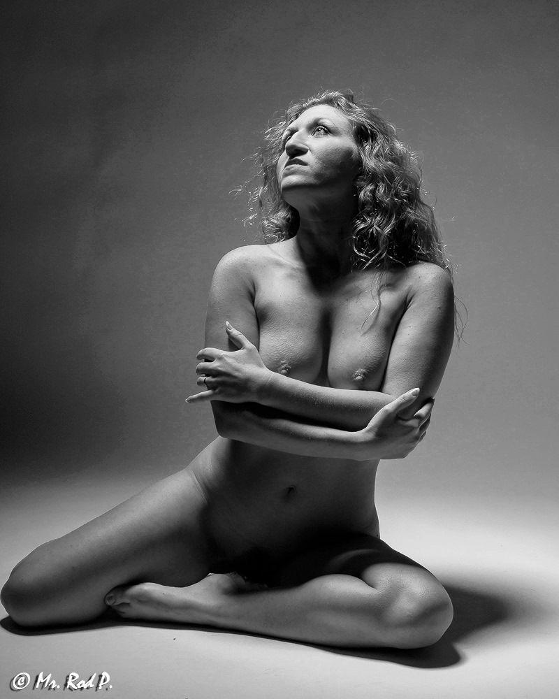 Photo in Nude #model #female #nude #blackandwhite #longhair