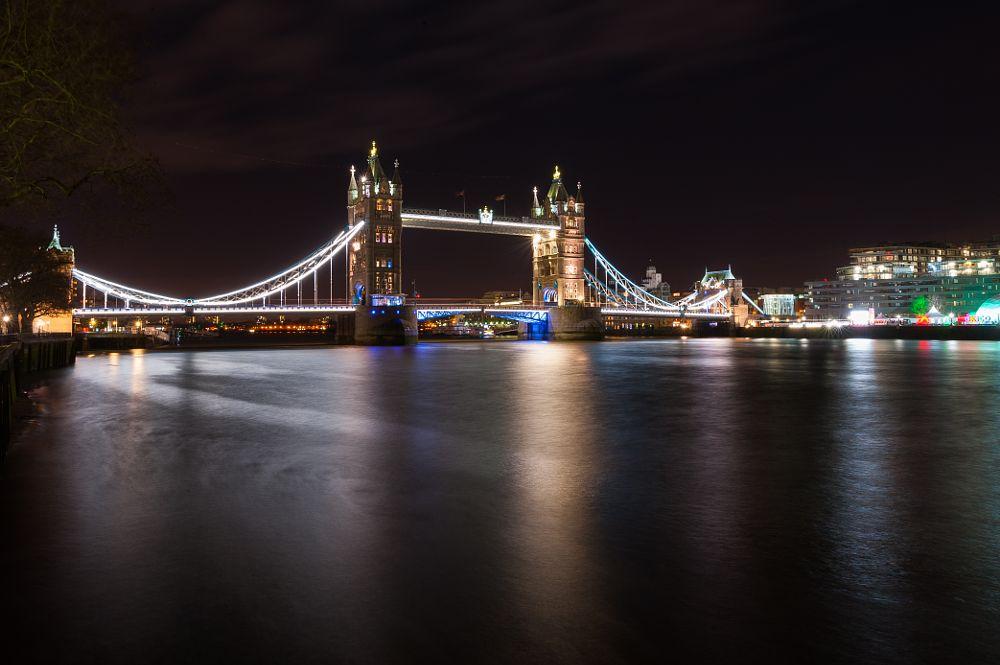 Photo in Cityscape #tower bridge #london #united kingdom #night