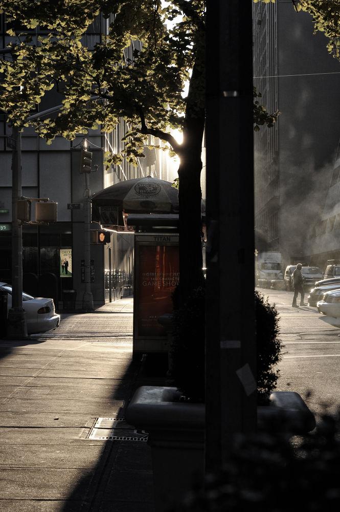 Photo in Random #newyork #manhattan #glenngoulding #vogue #sunrise