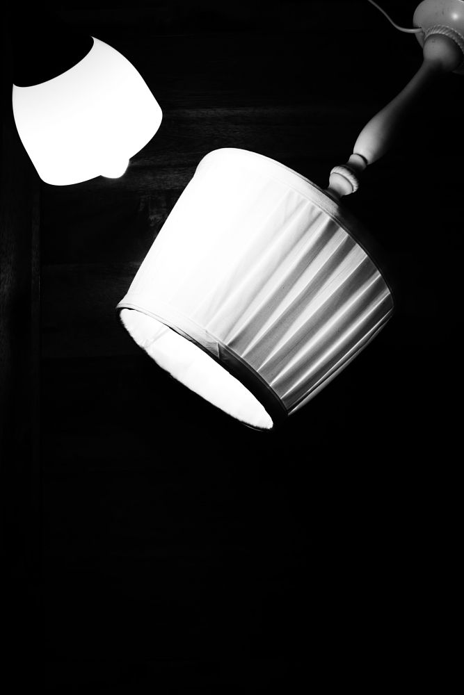 Photo in Black and White #light #black and white #lamps #interior #contrast #bright