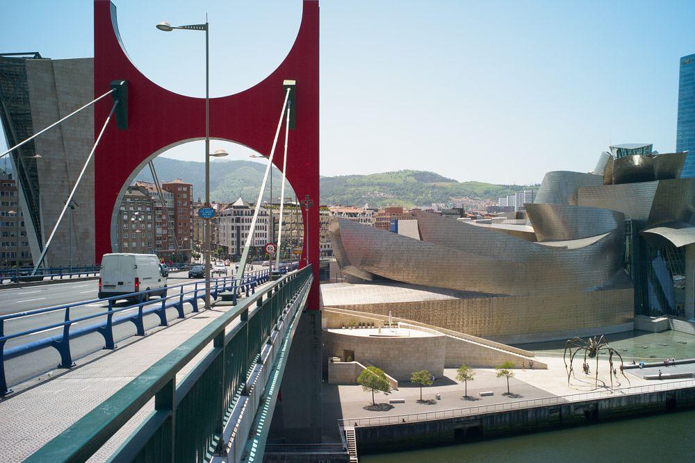Photo in Architecture #architecture #bilbao #bridge #guggenheim