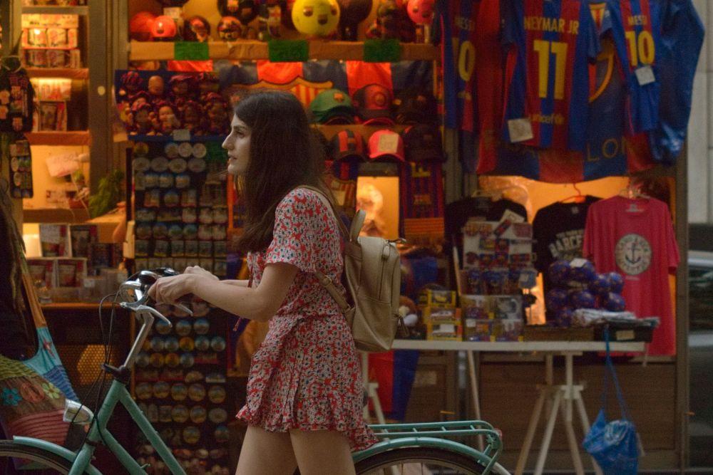 Photo in Portrait #girl #bike #street #colors #barcelona
