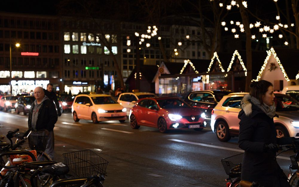 Photo in People #night #people #cars #lights #cologne