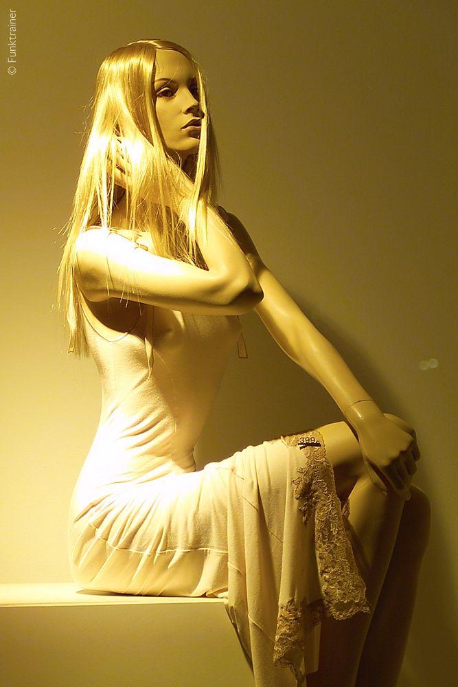Photo in Fashion #display mannequin #yellow #sitting #fashion #kodak dcs