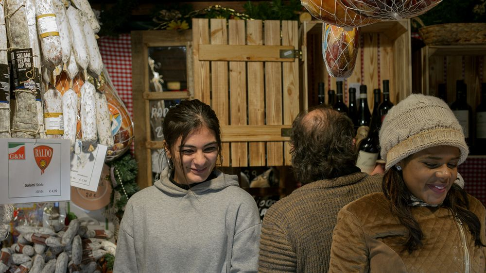 Photo in Portrait #market #christmas #cologne #italian #food