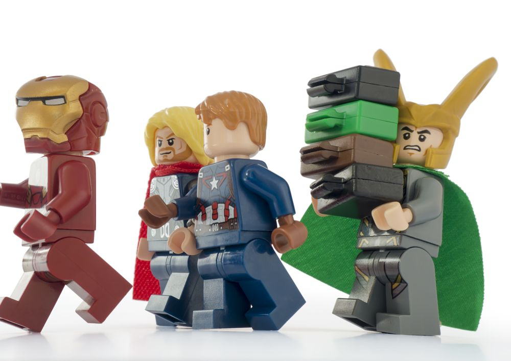 Photo in Macro #lego #macro #marvel #avengers #loki #luggage #valet #funny #joke #toy