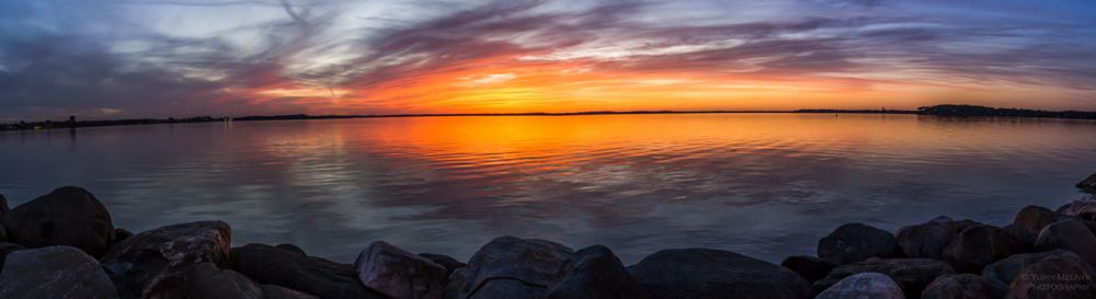 Photo in Landscape #panoramic #sunset #wide #lake #reflection #landscape