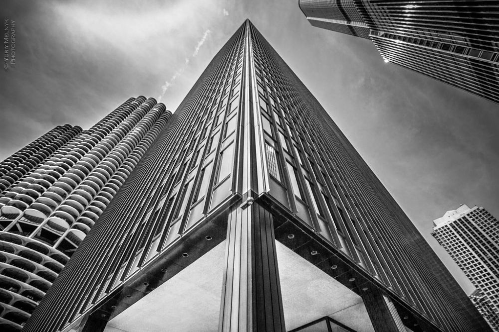 Photo in Cityscape #black and white #cytiscape #architecture #buildings #city #chicago