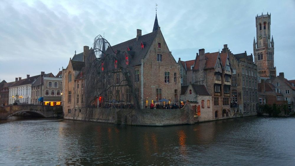 Photo in Cityscape #brugge #bruges #beerwall #2be #beer #river