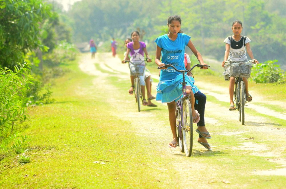 Photo in Rural #cycling #girls #people #rural