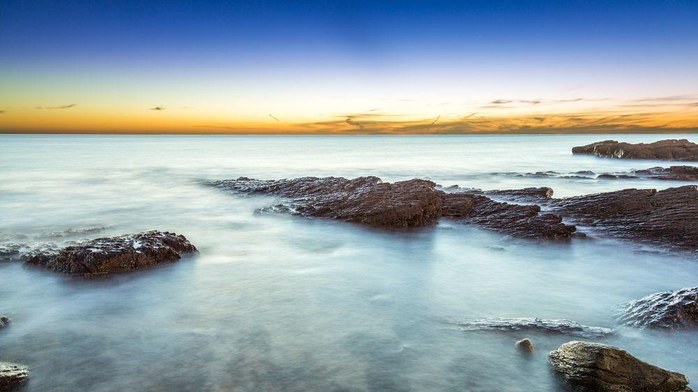 Photo in Sea and Sand #autumn #beach #hallett cove #long exposure #rocks #sand #south australia #stone #sun set #water #wave
