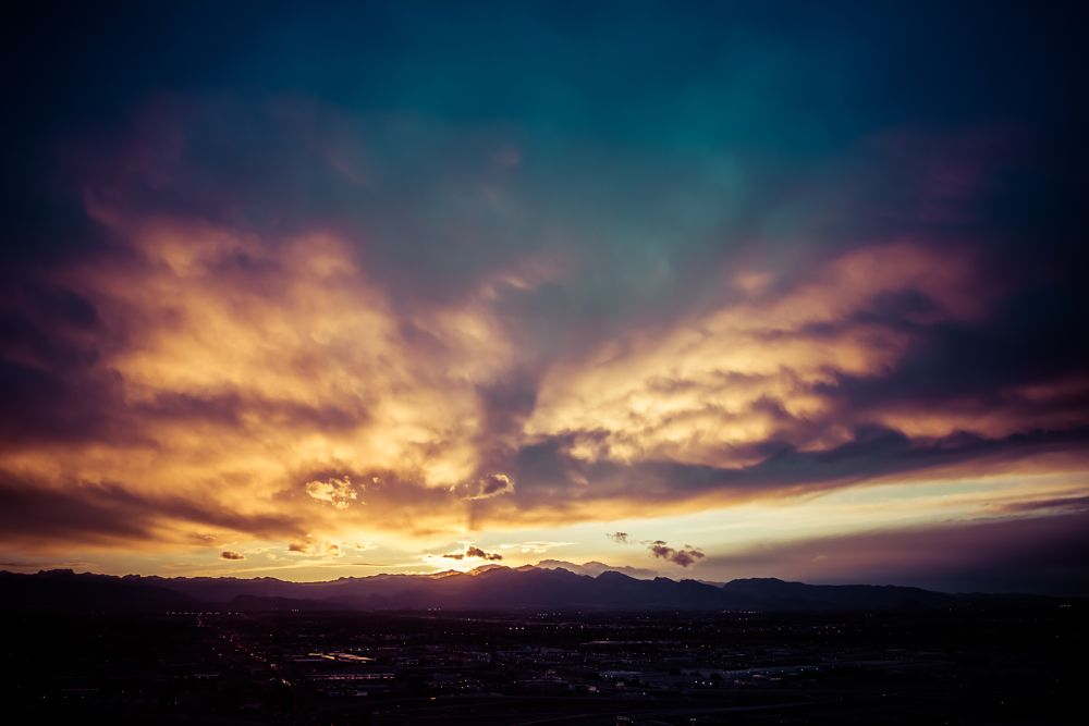 Photo in Nature #sunset #las vegas #clouds #mountain