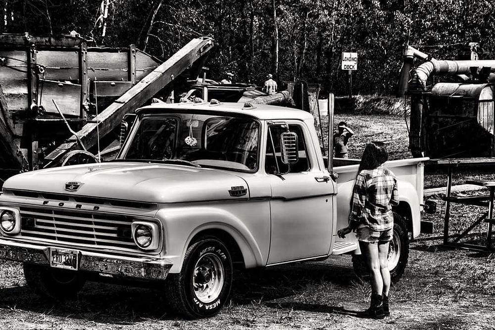 Photo in Black and White #truck #ford #black and white #monochrome #neat #vintage #ohio