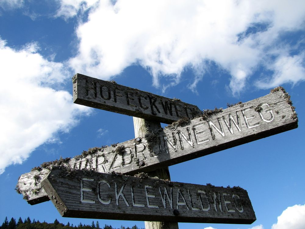 Photo in Landscape #sky #signpost #hiking