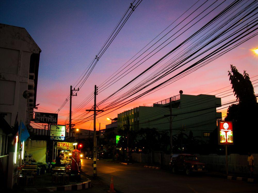Photo in Cityscape #sunset #thailand #sundown #sun #cityscape #beautiful #colorful #nong khai