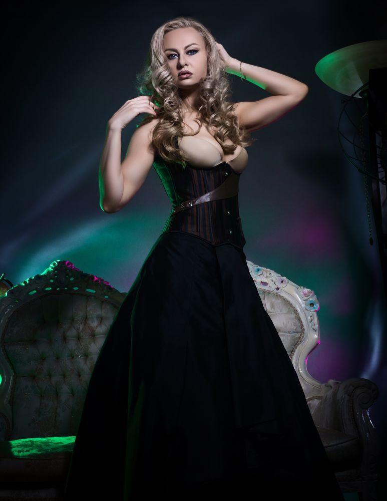 Photo in People #model #beautiful #canon #studio #lighting #gel filters #antiques #luxury
