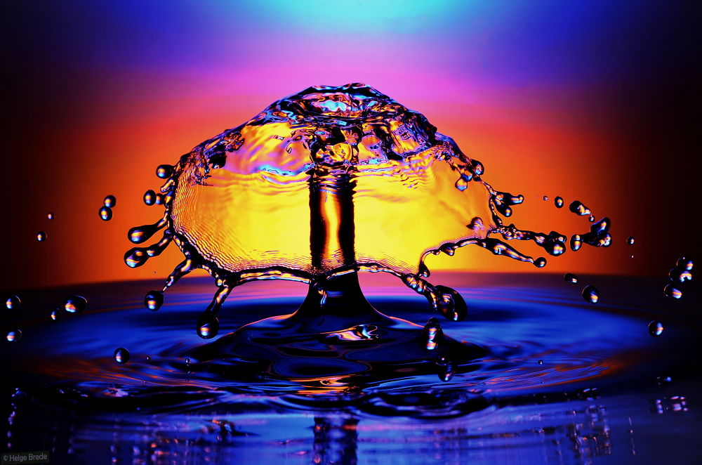 Photo in Macro #watersplash #droplets #¨macro #upclose #water