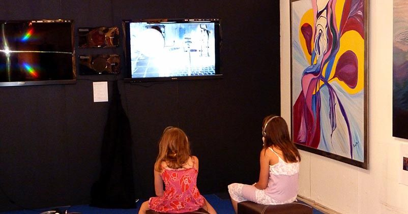From Salon des Refusés, Stockholm, Djurgården, July 1 - October 2 2011. Screening of Travel Mindscape Triptych (2010).  Photo by Bo G Svensson