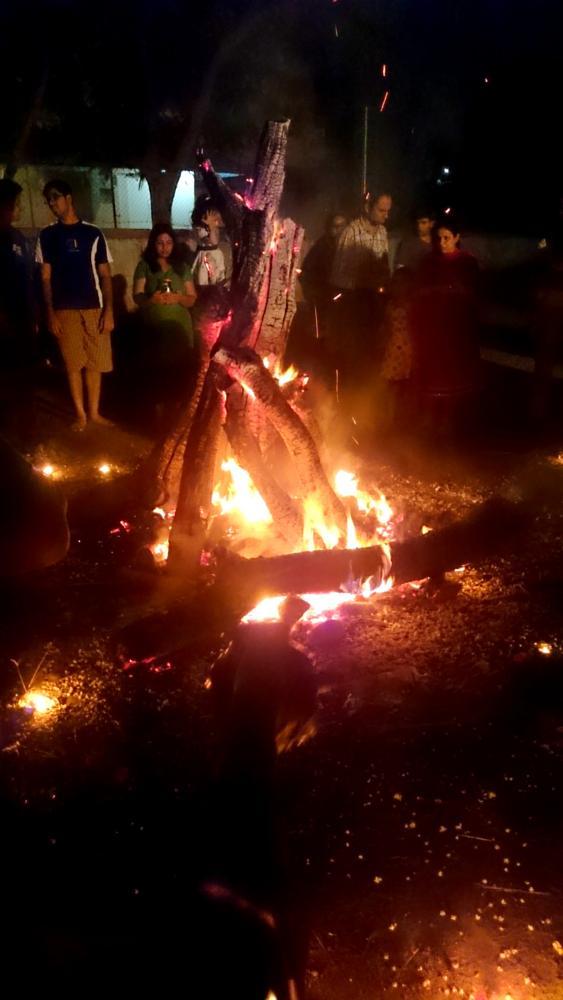 Photo in People #fire #holi #bonfire