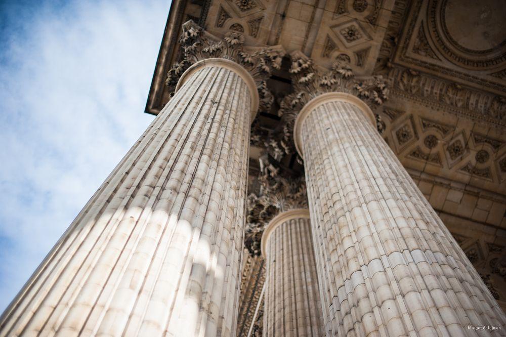 Photo in Architecture #paris #france #panthéon #column #architecture #sky