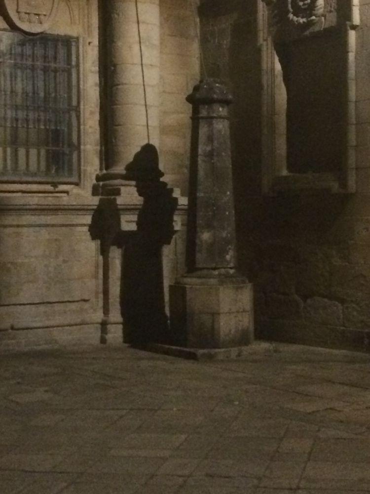 Photo in Street Photography #shadow #mysterious #pilgrim #peregrino #sombra #misterio #santiago de compostela #caminho de santiago #camino de santiago #spain #espanha #espana