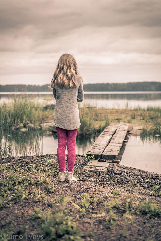 Photo in Portrait #portrait #lake #finland #midsummer #night #iso1600 #d610 #50mm 1.8g #nikkor #nikon #dramatic #sad