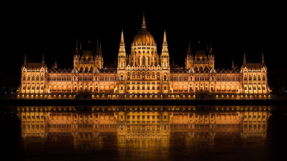 Photo in Architecture #hungarian #parliament #building #danube #architecture #long exposure #reflection #river #night #lights