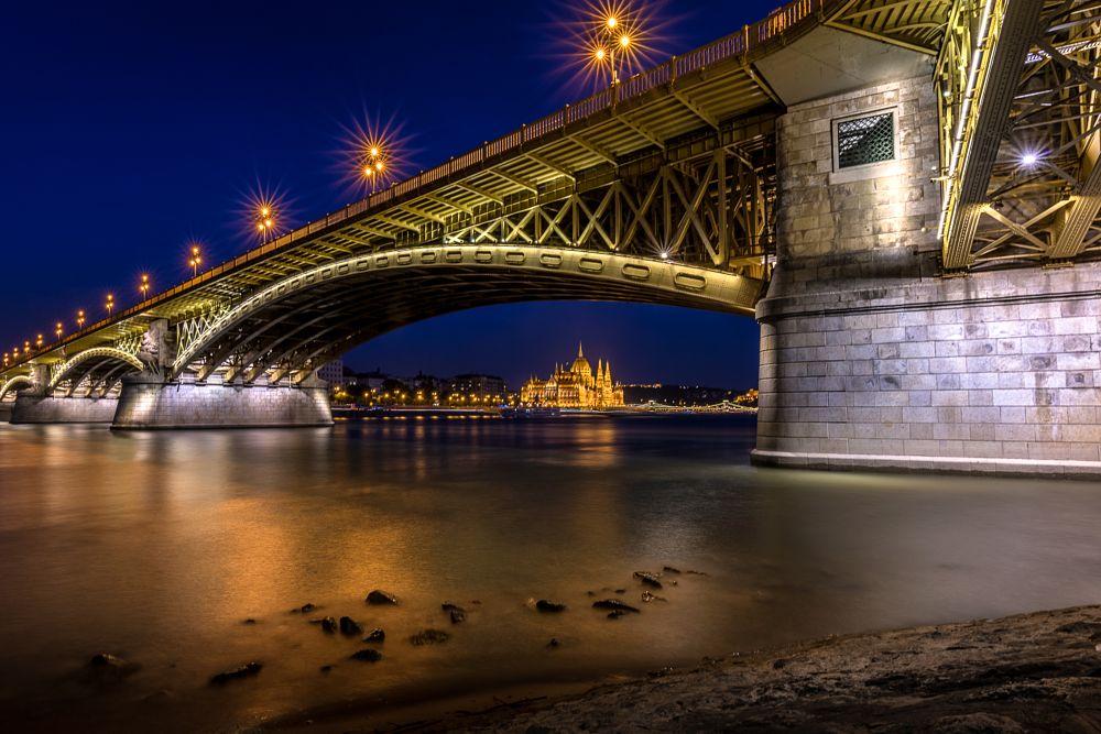 Photo in Cityscape #margaret bridge #bridge #budapest #hungary #night #citylights #cityscape #long exposure #tamron 15-30mm