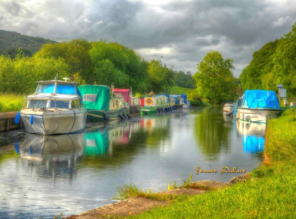 Photo in Landscape #landscape #ireland #carlow #boats #barge #river #kilkenny