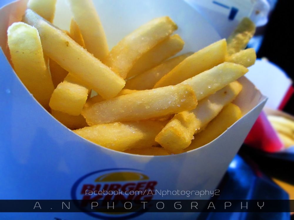 Photo in Food #burger king #photography #food #junk food #french fries #awesome day #lunch