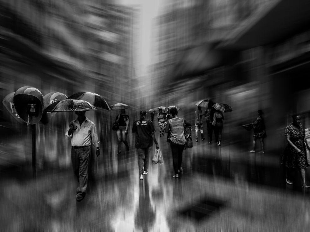 Photo in Black and White #portoalegre #rain #brazil #blackandwhite #streetphotography