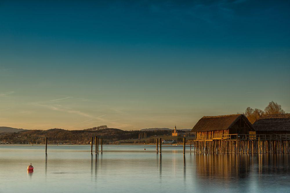 Photo in Landscape #sunset #lake constance #stilt house #lake #water #landscape #unteruhldingen #bodensee #landschaft #sonnenuntergang #deutschland #germany #wasser #see #spiegelungen #refelctions