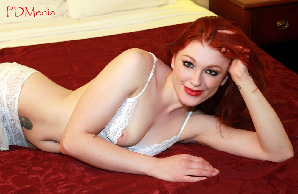 Photo in Nude #seductive #redhead #ginger #lingerie