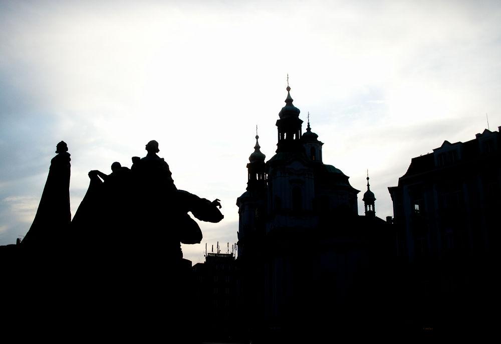 Photo in Random #town #old #prague #square #staroměstské náměstí #jan hus memorial
