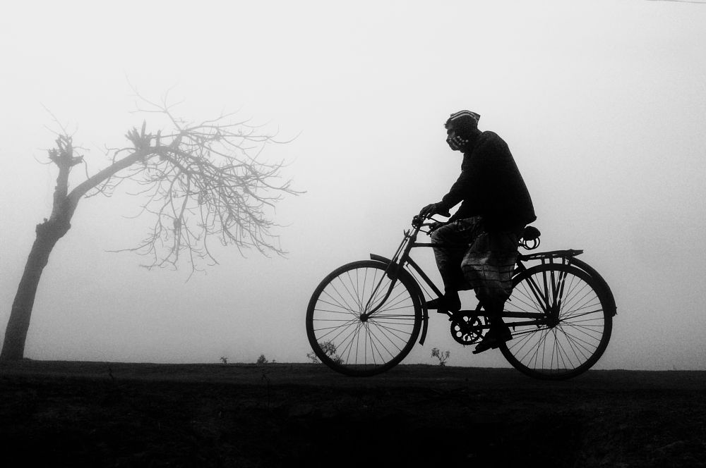 Photo in Black and White #people #monochrome #fog #mist