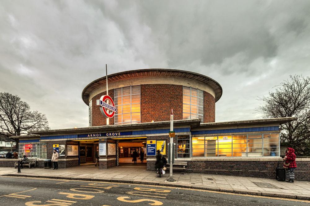 Photo in Architecture #nikon #station #metrô #underground #architecture #tube #history #arnos grove #art deco #d3 #nikkor 14-24mm