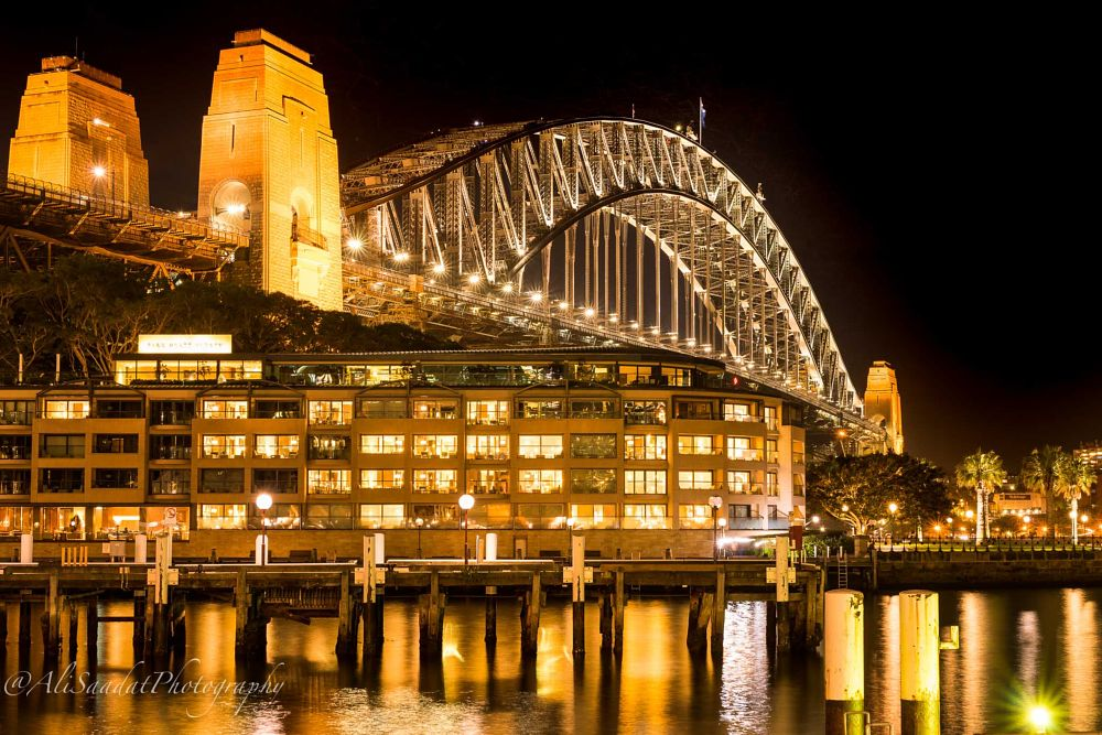 Photo in Travel #harbour bridge #australia #tourism #cityscape #landscape #night #ali saadat photography