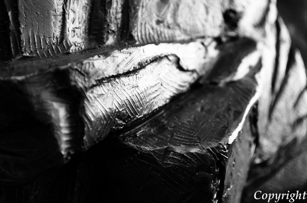 Photo in Black and White #usa #indian #bw #black and white #virginia #washington dc #bronze