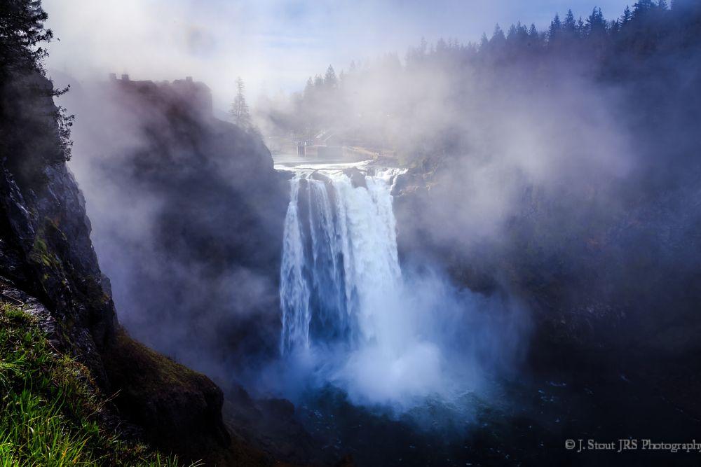 Photo in Landscape #snoqualmie #falls #snoqualmie falls #washington #waterfall #hdr #fog #mist
