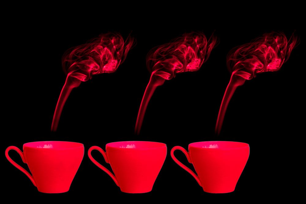 Photo in Product #digital art #cups #red #smoke #original