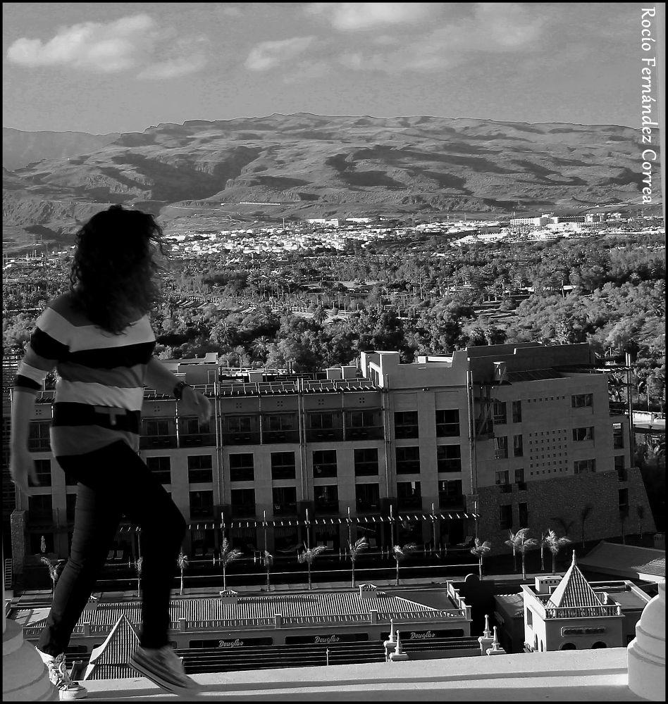 Photo in Black and White #girl #run
