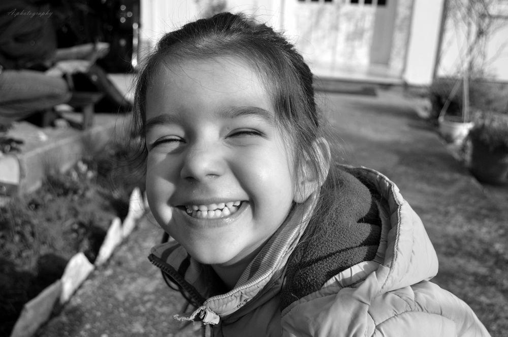 Photo in Black and White #black #white #girl #smile #nikon #2013