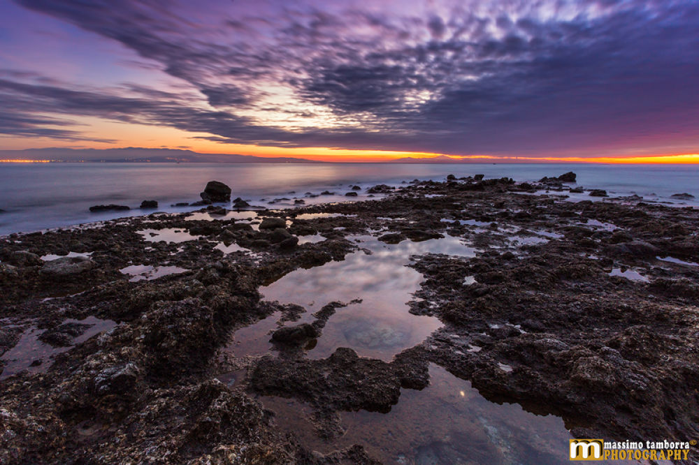 Photo in Landscape #www.massimotamborra.it #sea #spiaggia #mare #sunset #tramonto #reflex #riflessi #calabria #italy #italia #colori #colors #sky #cielo