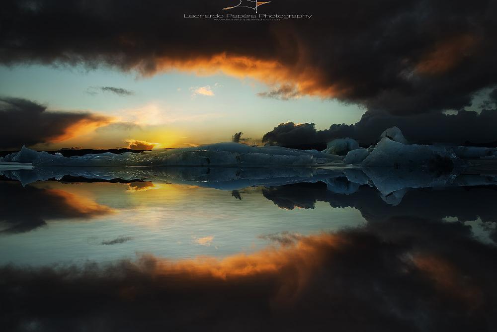 Photo in Landscape #jokulsarlon #ice #iceberg #iceland #glacier #lagoon #nature #landscape #sunset