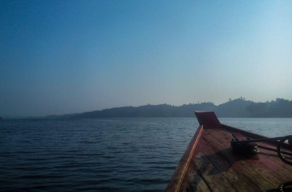 Photo in Travel #boat #karnafuli #river #blue #travel