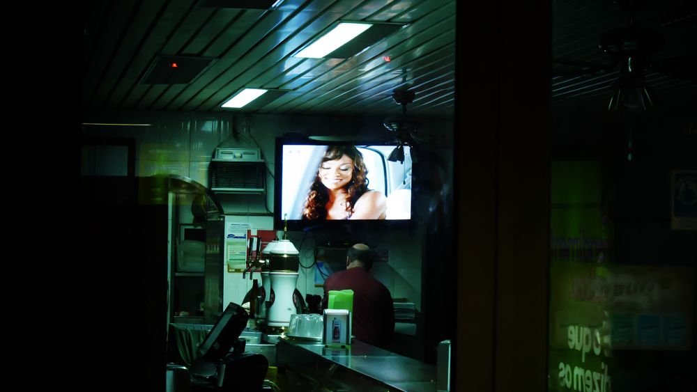 Photo in Portrait #portraits #anonymous #people #night #alone #tv #green