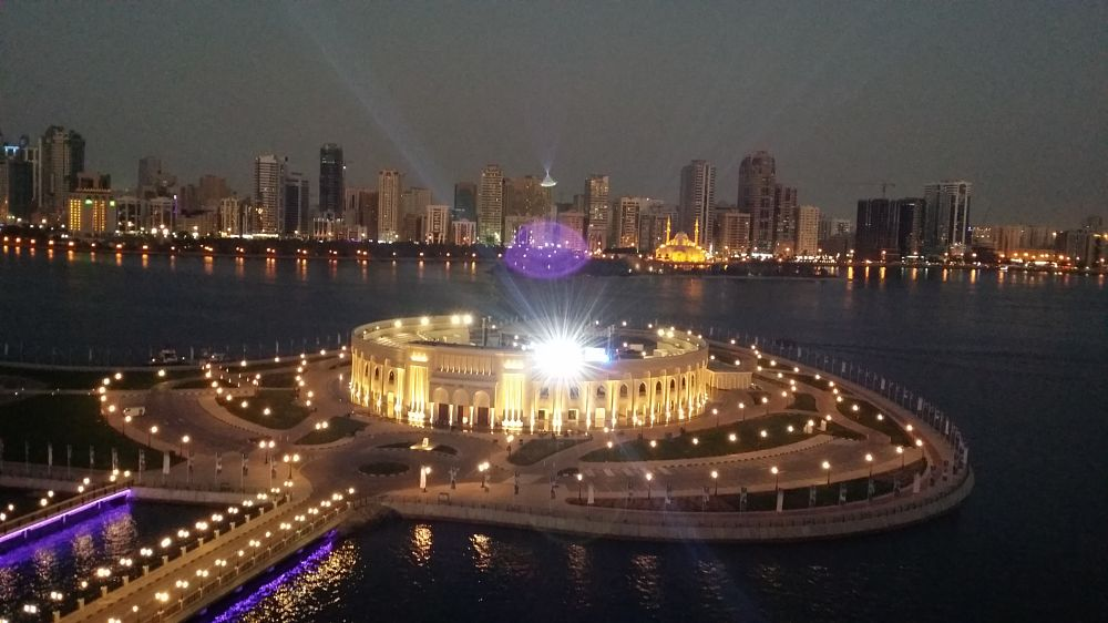 Photo in Architecture #sharjah #light #evening #building